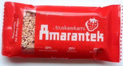 Amarantek z truskawkami – bezglutenowy –Szarłat, 16g