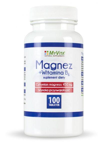 Magnez + witamina B6 –MyVita, 100tabletek,250tabletek
