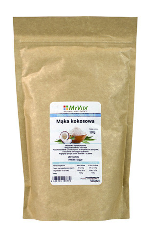Mąka kokosowa –MyVita, 1kg,500g