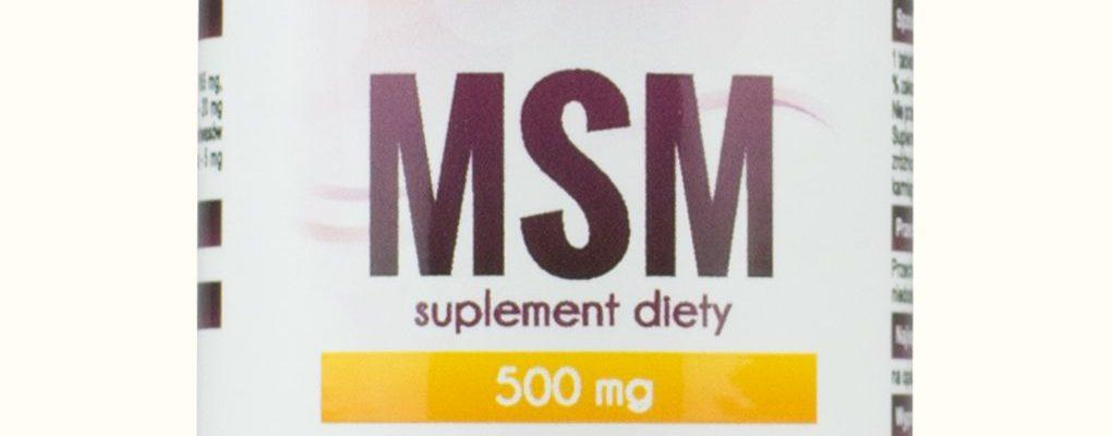 MSM- siarka organiczna- bolące stawy –MyVita, 100tabletek,250tabletek