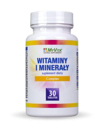 Witaminy i minerały – complex –MyVita, 30tabletek,90tabletek