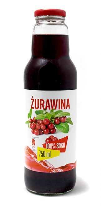 Sok z żurawiny 100% bez cukru – Look Food, 750 ml – Look Food, 750 ml