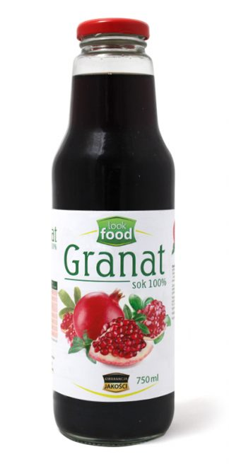 Sok z granatu 100% bez cukru – Look Food, 750 ml – Look Food, 750 ml
