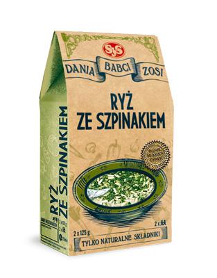 Ryż ze szpinakiem –SYS, 250g