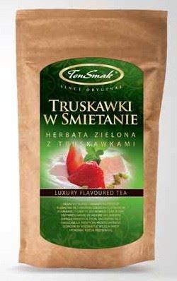 Herbatka zielona- truskawki w śmietanie –TenSmak, 40g