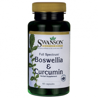 Full Spectrum Boswellia & Curcumin- zdrowe stawy –Swanson, 60kapsułek