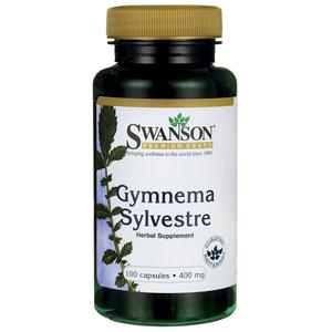 Gymnema Sylvestre 400mg Gurmaru w kapsułce -kontrola apetytu –Swanson, 100kapsułek