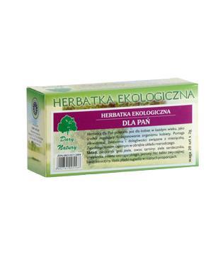 Herbatka dla Pań Eko- herbatka ekspresowa –DaryNatury, 20saszetekpo2g