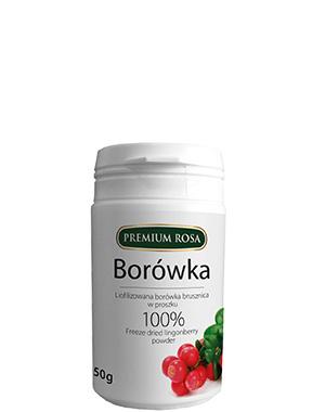 Liofilizowana borówka brusznica – proszek –PremiumRosa, 50g