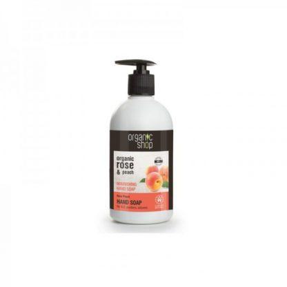 Mydło do rąk odżywcze róża i brzoskwinia –OrganicShop, 500ml