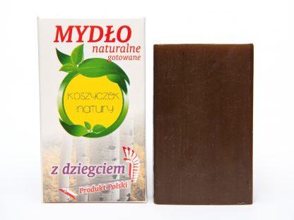 Mydło Naturalne z dziegciem 100% roślinne –KoszyczekNatury, 100g