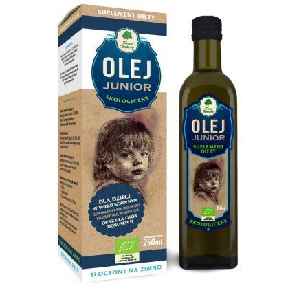 Olej Junior dla Dzieci Ekologiczny –DaryNatury, 250ml