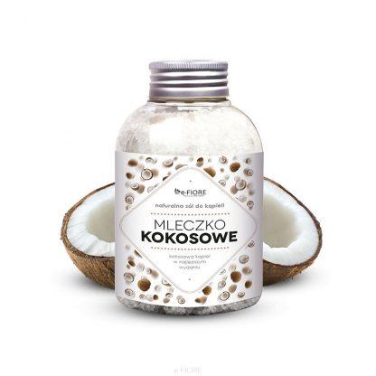 Naturalna sól z minerałami jodowo-bromowa MLECZKO KOKOSOWE z kolagenem –Fiore, 500g