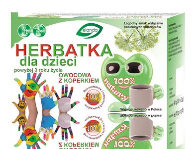 Herbatka dla dzieci powyżej 3 roku życia owocowa z koperkiem –Elanda, 20saszetekpo2g