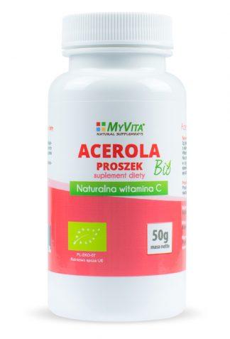 Acerola- naturalna witamina C –MyVita, 50g,100g