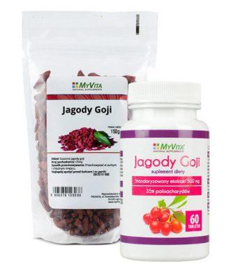 Jagody goji tabletki 500 mg- owoce młodości –MyVita, 60tabletek –MyVita, 60tabletek