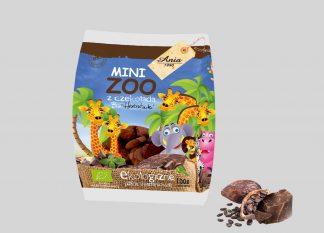 Herbatniki pszenne bio z czekoladą mini zoo –Bioania, 100g