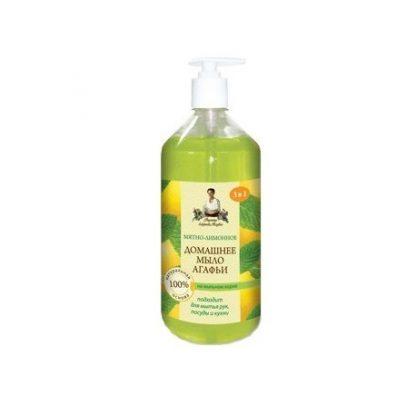 Domowe mydło do rąk w płynie -mięta & cytryna –Agafii, 1l