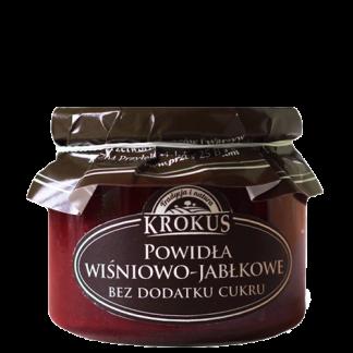 Powidła wiśniowo- jabłkowe bez dodatku cukru –Krokus, 310g –Krokus, 310g