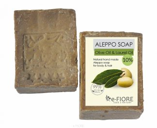 Mydło Aleppo oliwkowo-laurowe 10% CERA SUCHA i NORMALNA –Fiore, 190g