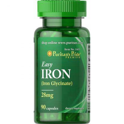 Żelazo 28 mg –Puritan'sPride, 90kapsułek