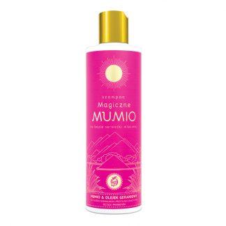 """Szampon """"Magiczne Mumio"""" & olejek geraniowy na bazie serwatki mlecznej –NAMI, 280ml"""