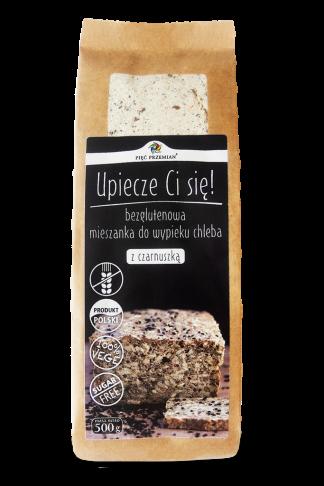 Mieszanka chleba bezglutenowego z czarnuszką –PięćPrzemian, 500g –PięćPrzemian, 500g